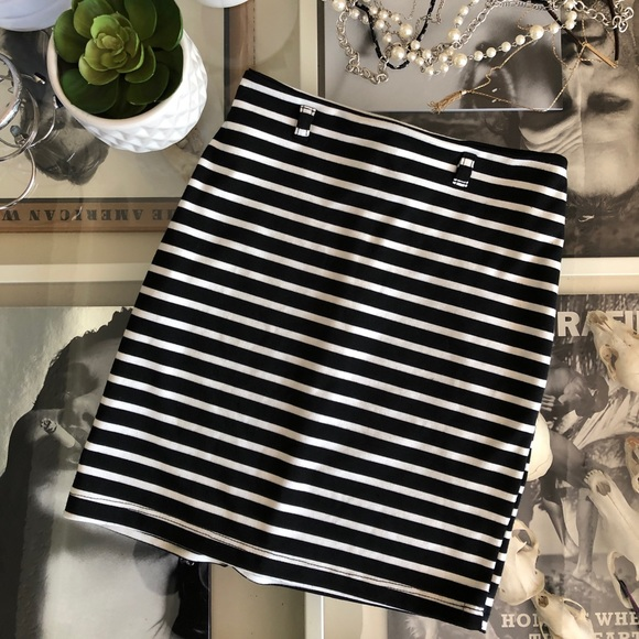 just ginger Dresses & Skirts - Navy Striped Skirt